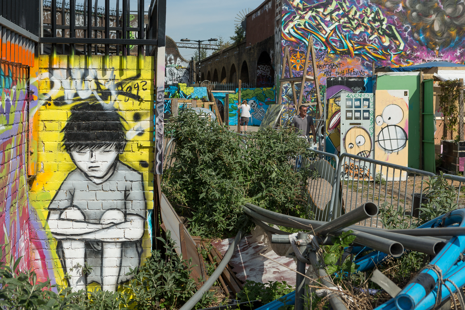 Nomadic Community Gardens near Brick Lane, East London