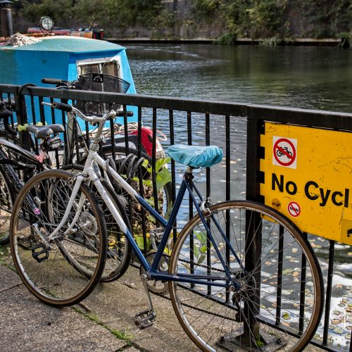 20161018_Camden_Regents-Canal_No-Cycling-towards-Camden