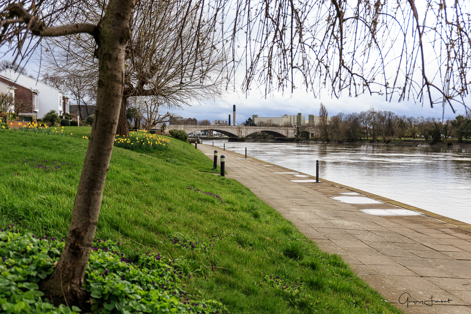 20170308_Hounslow_Chiswick-Bridge_Path-by-the-Thames-looking-back