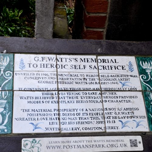 20170416_City-of-London_St-Martins-le-Grand_Plaque-about-memorial-in-Postmans-Park