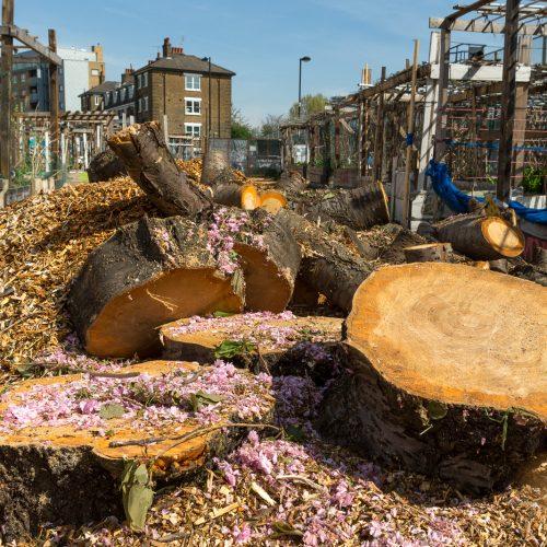 Nomadic Community Gardens near Brick Lane, East London